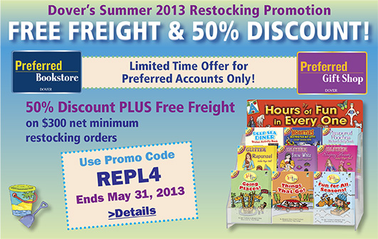 Dover's Summer 2013 Restocking Promotion
