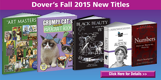 Dover's Fall 2015 New Titles=