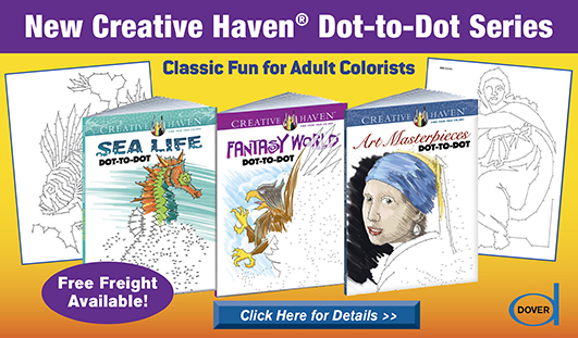 New Creative Haven Dot-to-Dot Series