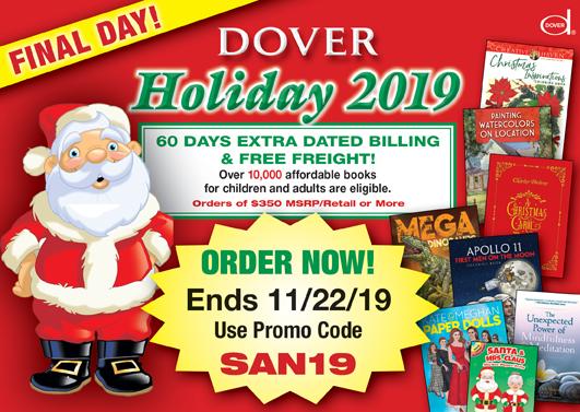 Dover Holiday 2019 Catalog